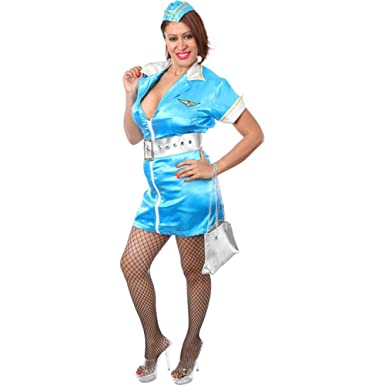 Amazon.com: Plus Size Sexy Flight Attendant Halloween Costume ...