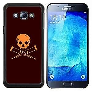 LECELL--Funda protectora / Cubierta / Piel For Samsung Galaxy A8 A8000 -- Discapacitados Bandera cráneo --