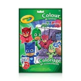 Crayola Crayola Colour and Sticker Book, PJ Masks , Gift for Boys and Girls, Kids, Ages 3+, Summer Travel, Out of School Cottage Activties