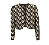 Vska Women's Africa Printing Batik Coat Crop Top Simple Cardigan 3 XS