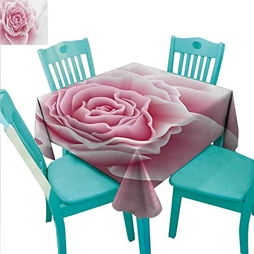 WilliamsDecor Pale Pink Elegance Engineered Christmas Tablecloth Romantic Rose Petals Beauty Bouquet Celebration Bridal Romance Wedding Theme Indoor Outdoor Camping Picnic 54