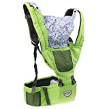 Dovewill Soft Cotton Hoodie Baby Cuddle Up Ergonomic Carrier Mesh Pockets for Parents - as described, green