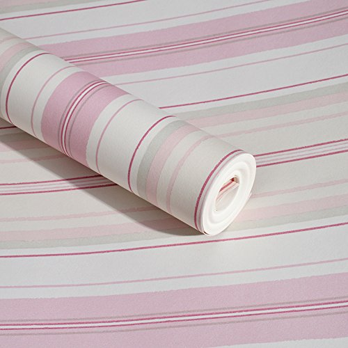 SimpleLife4U Pink Lines Self-Adhesive Shelf Liner Vinyl Contact Paper Refurbish Dresser Drawers Beauty Case 17.7 Inch By 9.8 Feet