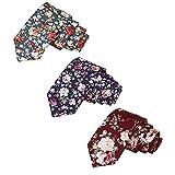Floral Tie Men's Cotton Printed Flower Neck Tie Skinny Neckties (mix3-4)