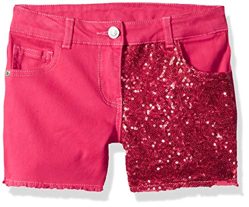 GUESS Girls' Big Mixed Sequin Short, Electric Rose, 16