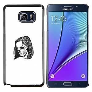 Caucho caso de Shell duro de la cubierta de accesorios de protección BY RAYDREAMMM - Samsung Galaxy Note 5 5th N9200 - Emo Esqueleto