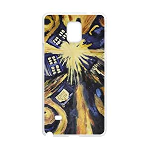 Abstract Art Unique Design [Lightweight] Personalize Rugged Protective Durable Case for Samsung Galaxy Note 4 Smartphone [Non-Slip] Shock Absorbing and Scratch Resistant Perfect 2 in 1