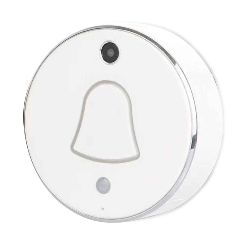 90 ° Wide Angle ViewingスマートワイヤレスWiFi対応カメラドア電話Visible DoorbellホームセキュリティRegard シルバー AmzRegard9645 B07DPJCTHZ
