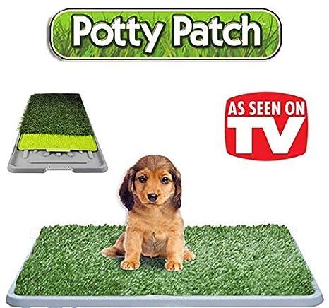 PottyPatch Arenero de césped artificial Hierba sintética absorbente para perros gatos animales excrementos 68 x 42 x 5 cm para animales a hasta 7 kg ...