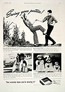 1940 Ad Kotex Sanitary Napkins Pads Feminine Products Dancing Halloween YHM3 - Original Print Ad