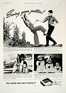 1940 Ad Kotex Sanitary Napkins Pads Feminine Products Dancing Halloween YHM3 - Original Print Ad
