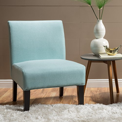 Kendal Light Blue Fabric Accent Chair ()