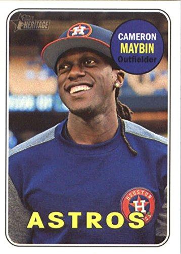 (2018 Topps Heritage #205 Cameron Maybin Houston Astros Baseball Card)
