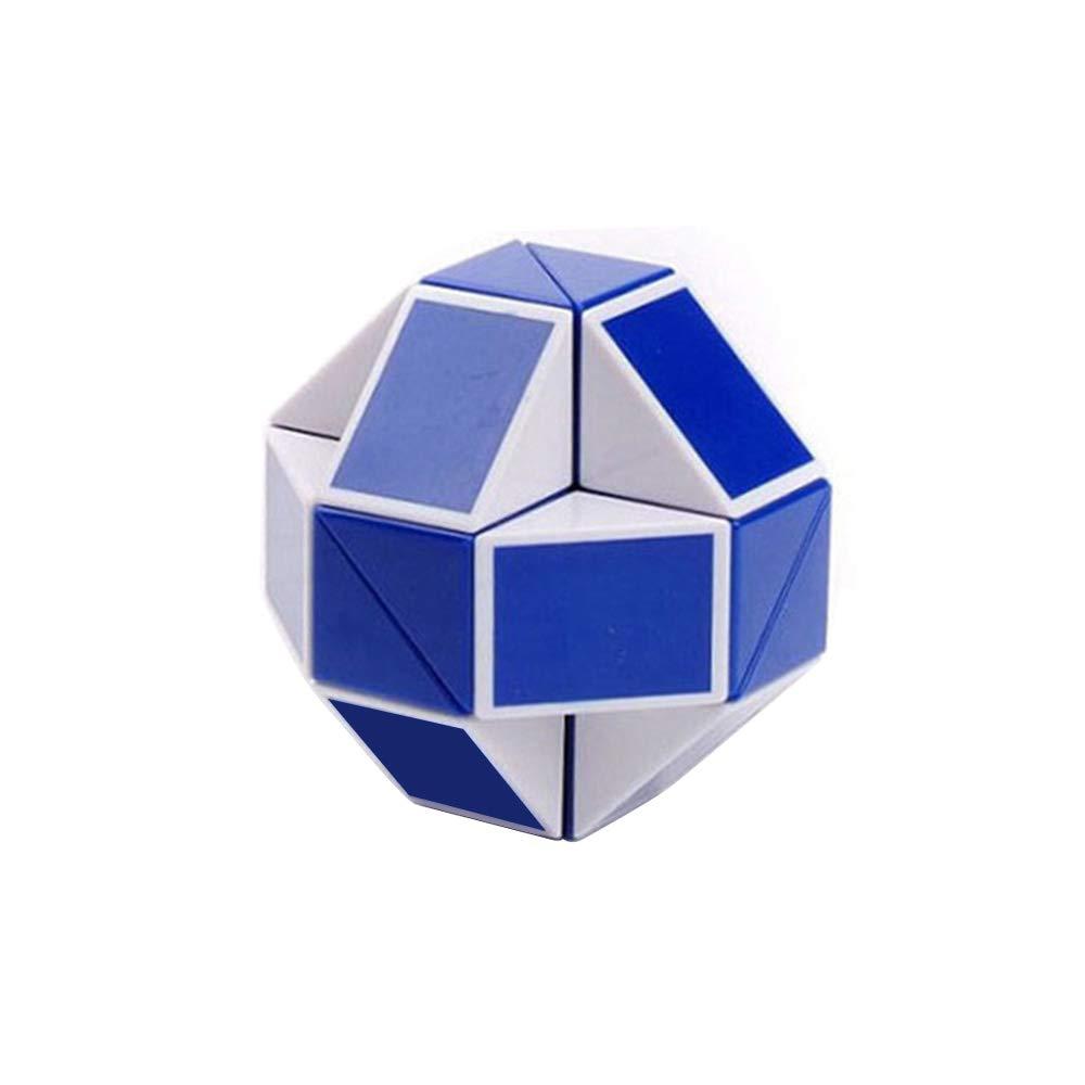 YUANZHOU Twist Puzzle Cubo de Rubik Snake Forma Velocidad Cubos m/ágicos Twist Puzzle Juguetes para ni/ños Party Bag fillers los favores del Partido Color al Azar 4 * 4 * 4cm 1pc
