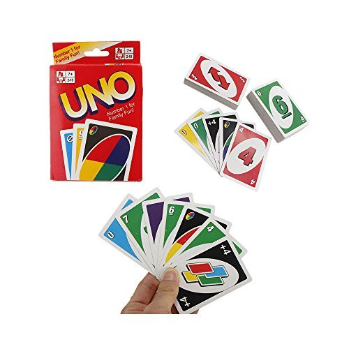 108 Standard Fun UNO Playing Cards Game For Family Friend Travel Instruction by Unknown