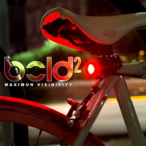 Bold 2 USB Tail Light, NEW Multi-Purpose Clip for Cycling, Running & Backpacks, Fits All Bicycles, Easy Install, Water Resistant, Charging Cable Included - 100% Satisfaction Guarantee!
