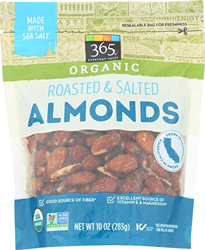 organic almonds roasted salted - 6