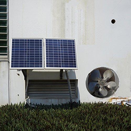 Solar Roof Ventilator : Eco worthy w solar powered attic ventilator gable roof
