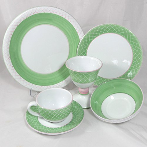 Herend Village Pottery, Sorbet, Green, 6-Piece Dinnerware Place Setting ()