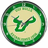 WinCraft NCAA South Florida Bulls Chrome Clock