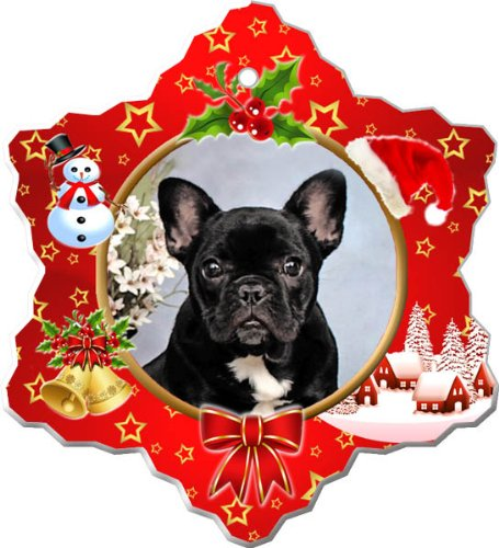 French Bulldog Porcelain Holiday Ornament
