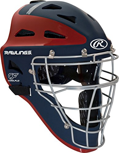 Rawlings Sporting Goods Youth Velo Series Catchers Helmet, Navy/Scarlet, 6 1/2-7'' by Rawlings