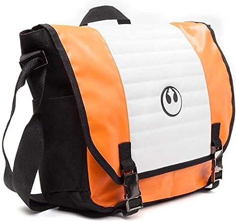 Star Wars Unisex Resistance Logo Messenger Bag | One Size | Orange/Black (Star Wars Rebel Bag)
