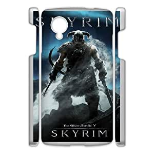 Google Nexus 5 Phone Case White Skyrim HJF691156