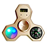 Fidget Spinner Metal Rainbow with Compass Clock LED Cool Hand Spinner for Children Adults