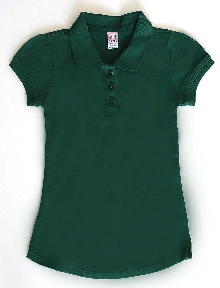 Girl toppy Girls School Uniforms Short Sleeve Stretch Pique Polo