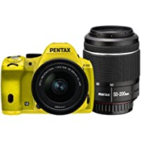 Pentax K-50 16MP Digital SLR DAL18-55mmWR, DAL50-200mmWR WZOOM KIT YELLOW/YELLOW 033