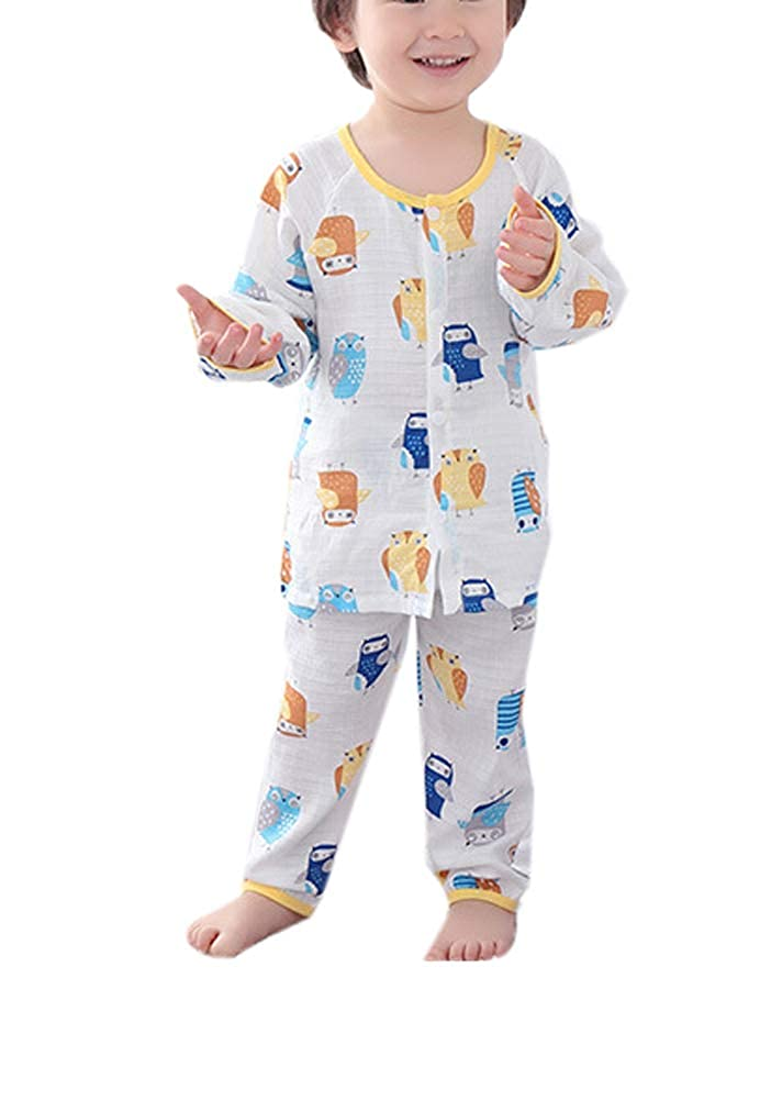 Habigua Little Boys Girls Soft Cute Fruit Pajama Snug Fit Pjs White