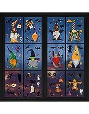 Halloween fönsterklistermärken, AUMIDY 9 ark dubbla sidor avtagbara halloween fönsterbilder klistermärken fönsterdekoration halloween dekoration för festdekoration, heminredning och skoldekoration
