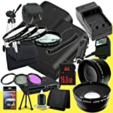Two Canon EOS 70D DSLR Camera with 18-55mm STM f/3.5-5.6 Lens LP-E6 Lithium Ion Replacement Battery and External Rapid Charger + 16GB SDHC Class 10 Memory Card + 58mm 3 Piece Filter Kit + Full Size Tripod + 58mm Macro Close Up Kit + 58mm 2x Telephoto Lens