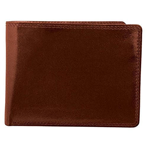 Bugatti RFID Blocking Leather 9-slot Mens Wallet Mahogany