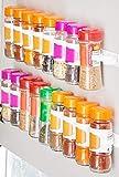 InnovaGoods IG815530 Organizador de Especias Adhesivo y Divisible Spicer X20, PVC, Multicolor