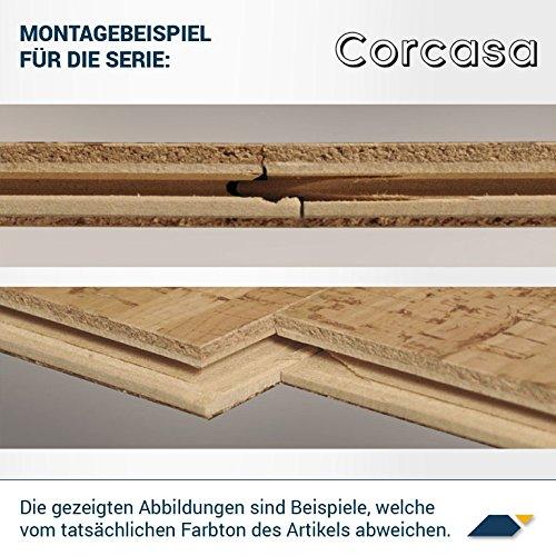 CORCASA Korkboden Design coloriert lackiert Klicksystem warmer Kork Bodenbelag Klick Sonora