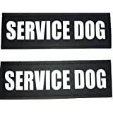ALBCORP Reflective Service Dog Patch with Hook Backing for Service Animal Vests/Harnesses Extra Small (3.5 X 1) Inch