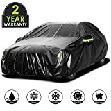 Adakiit Car Cover Waterproof Sedan Cover for All Weather UV Protection Windproof/Scratch Resistant, 210T Outdoor Universal Full Car Covers for Sedans up to 191''(191' Lx72.8 Wx59 H)