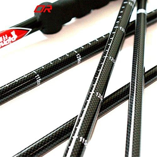 1 pcs Buse réglable en hauteur légère avec poignée en caoutchouc Bâton de marche en fibre de carbone Bâton de télescope en traîneau pour Wandelstok