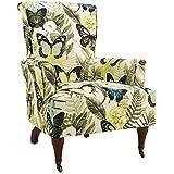 Linon AMZN0256 Josie Butterfly Arm Chair, Standard, Brown