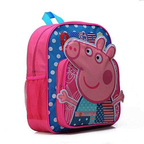 Yuting Little Kids Peppa Pig Cartoon School Bag,kids Outdoor Daypack (Pink)