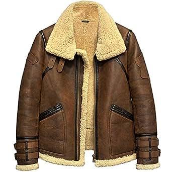 Men S Shearling Jacket B3 Flight Jacket Fur Leather Jacket