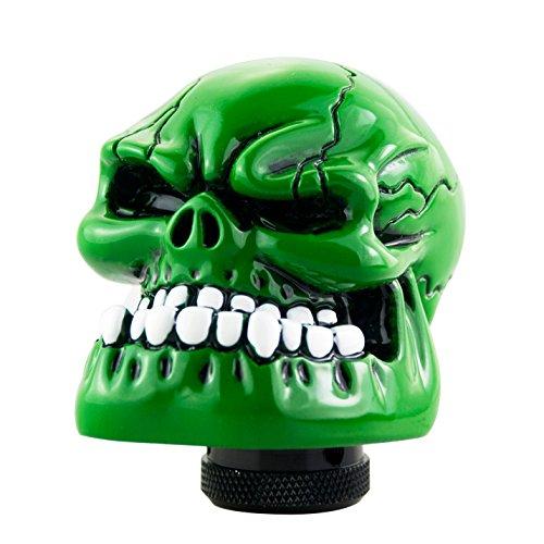 Shifter Knob Skull (VmonV Skull Gear Shifter Knob, Manual Automatic Shift Stick Universal Car Knobs for Most Transmission Vehicles, Green)