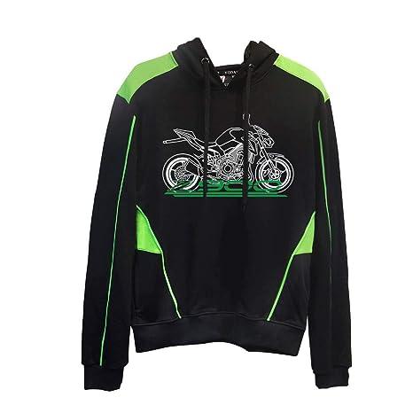 KODASKIN-EU Motocicleta 100% Algodón Unisex Personalizable Sudadera con Capucha Casual Hombre Sudadera para