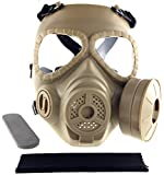 SportPro M04 Dummy Gas Mask Protection Full Face Fan Mask for Airsoft - Tan