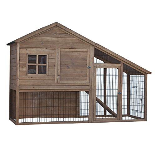 ALEKO-Wooden-Pet-House-Poultry-Hutch-Rabbits-Chickens-Hen-Coop-Wooden-Cage-57-L-x-32-H-x-83-W