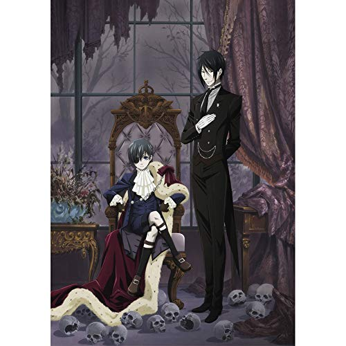HomMall Japanese Anime Character Poster Hanging Paintings Wall Art Fabric Poster(Black Butler)