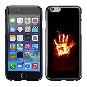Paccase / SLIM PC / Aliminium Casa Carcasa Funda Case Cover para - Flaming Hand From Hell - Apple Iphone 6