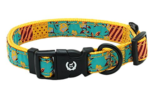 Peetts Standard Dog Collar  Adjustable Size For Small Medium Large Dogs  Yellow  S  5 8 W  10 16L